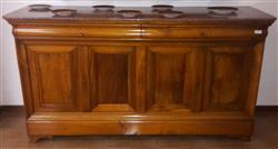 Four-door sideboard with marble