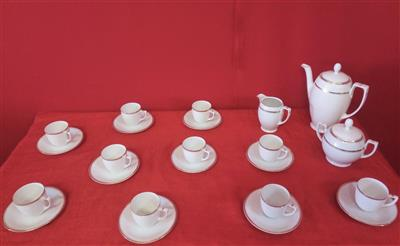 Coffee service with gold decorations 25 pieces