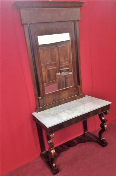 Empire console with mirror