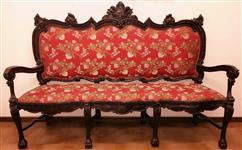 Italian sofa hand carved