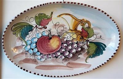Ceramic plate, hand-painted