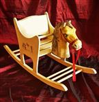 Rocking Horse for Children in lacquered wood