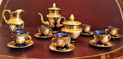 Coffee service, Murano glass, hand-decorated