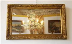 Mirrors in gilded plaster, restored