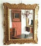 Mirror in gilded wood