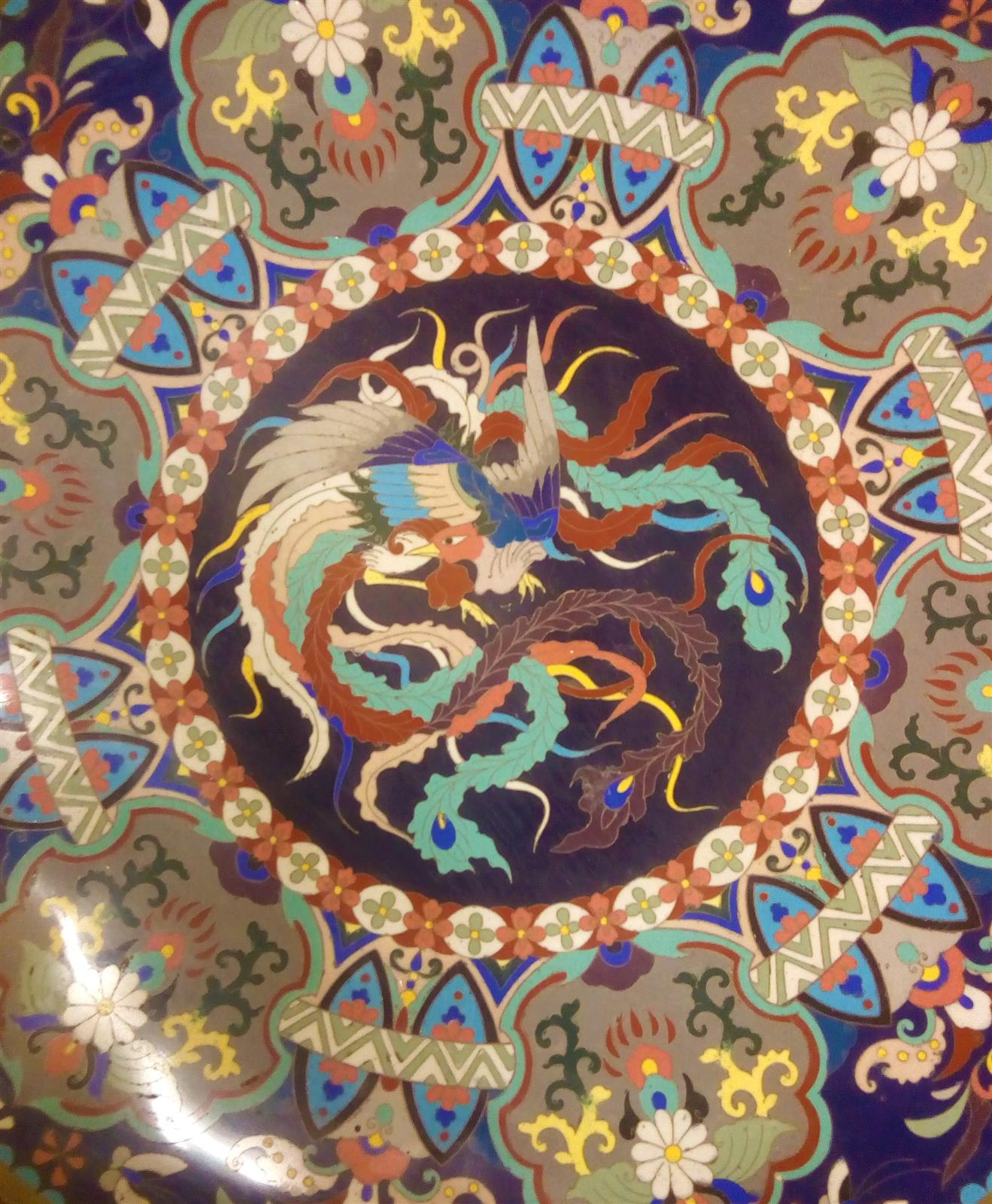 Piatto giapponese in Cloisonné