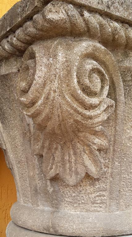 Capital carved stone lower